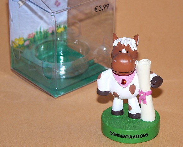 "Message-Figur Tibby ""Congratulations"""