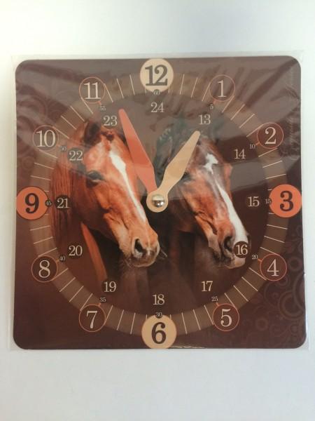 """Lern-Uhr """"Exquisite Horses"""""""