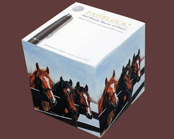 "Notizblock ""Horses at Fence"""
