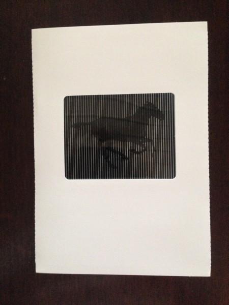 """Grußkarte """"Galoppierendes Pferd"""""""