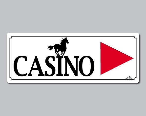 "Turnierschild ""Casino"""