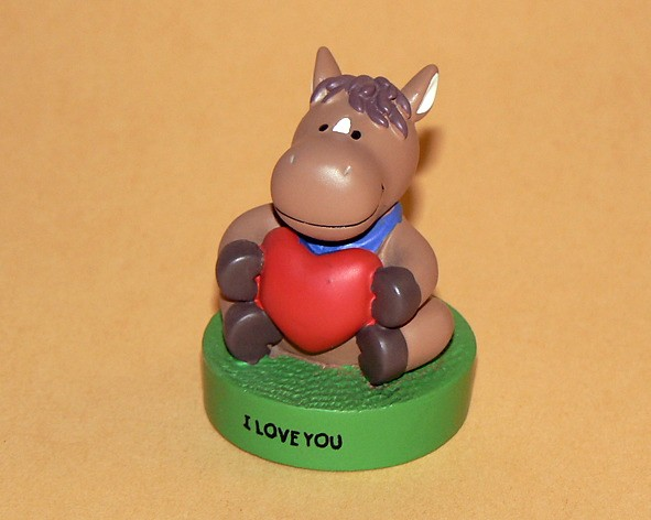 "Message-Figur Tabby ""I Love You"""