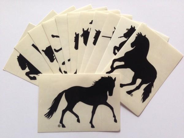 Aufkleber mit Pferdemotiv