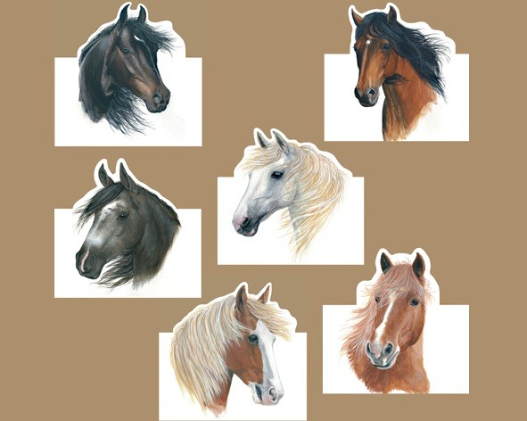 """Karten-Set """"Spirited Horses"""""""