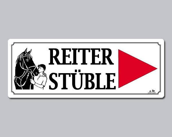 """Turnierschild """"Reiterstüble"""""""